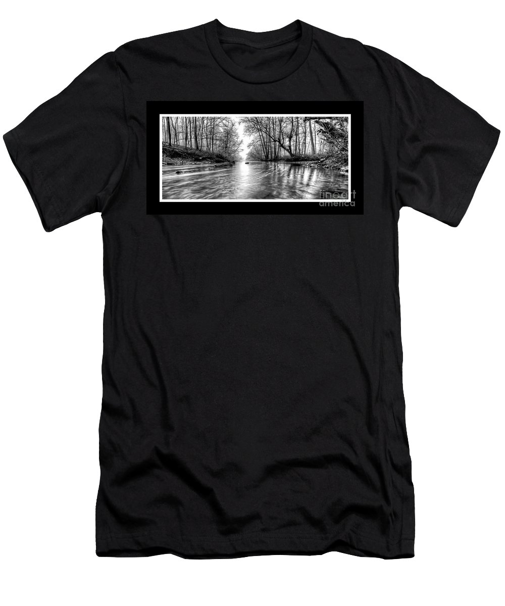 Woods Men's T-Shirt (Athletic Fit) featuring the photograph Into The Woods by Traci Law