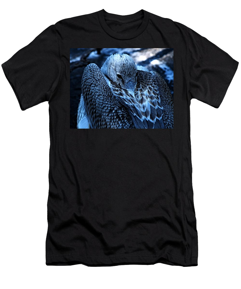 Seagulls Men's T-Shirt (Athletic Fit) featuring the photograph Introvert by See My Photos