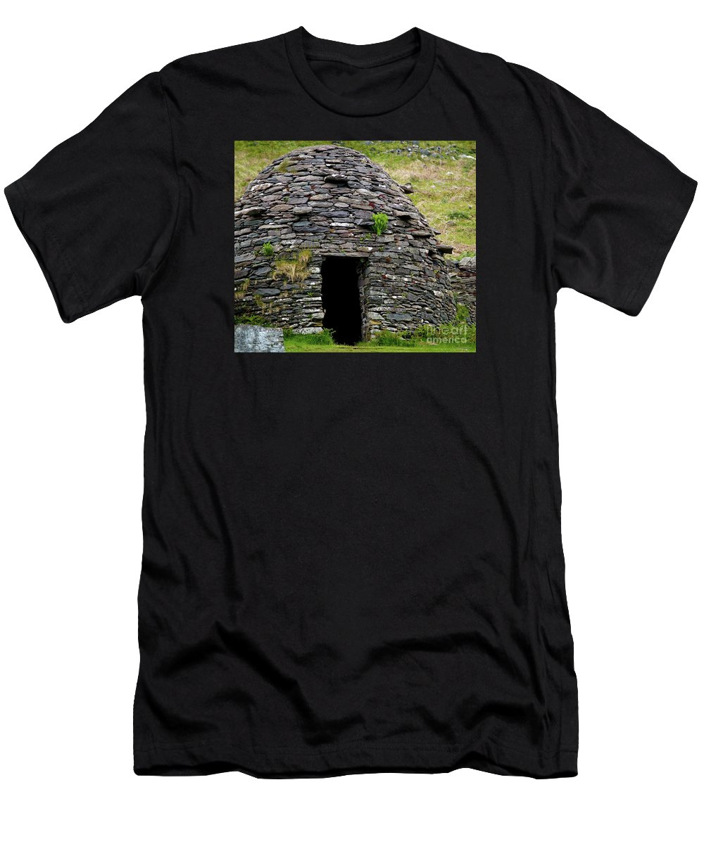 Beehive House Men's T-Shirt (Athletic Fit) featuring the photograph Irish Beehive House by Patricia Griffin Brett