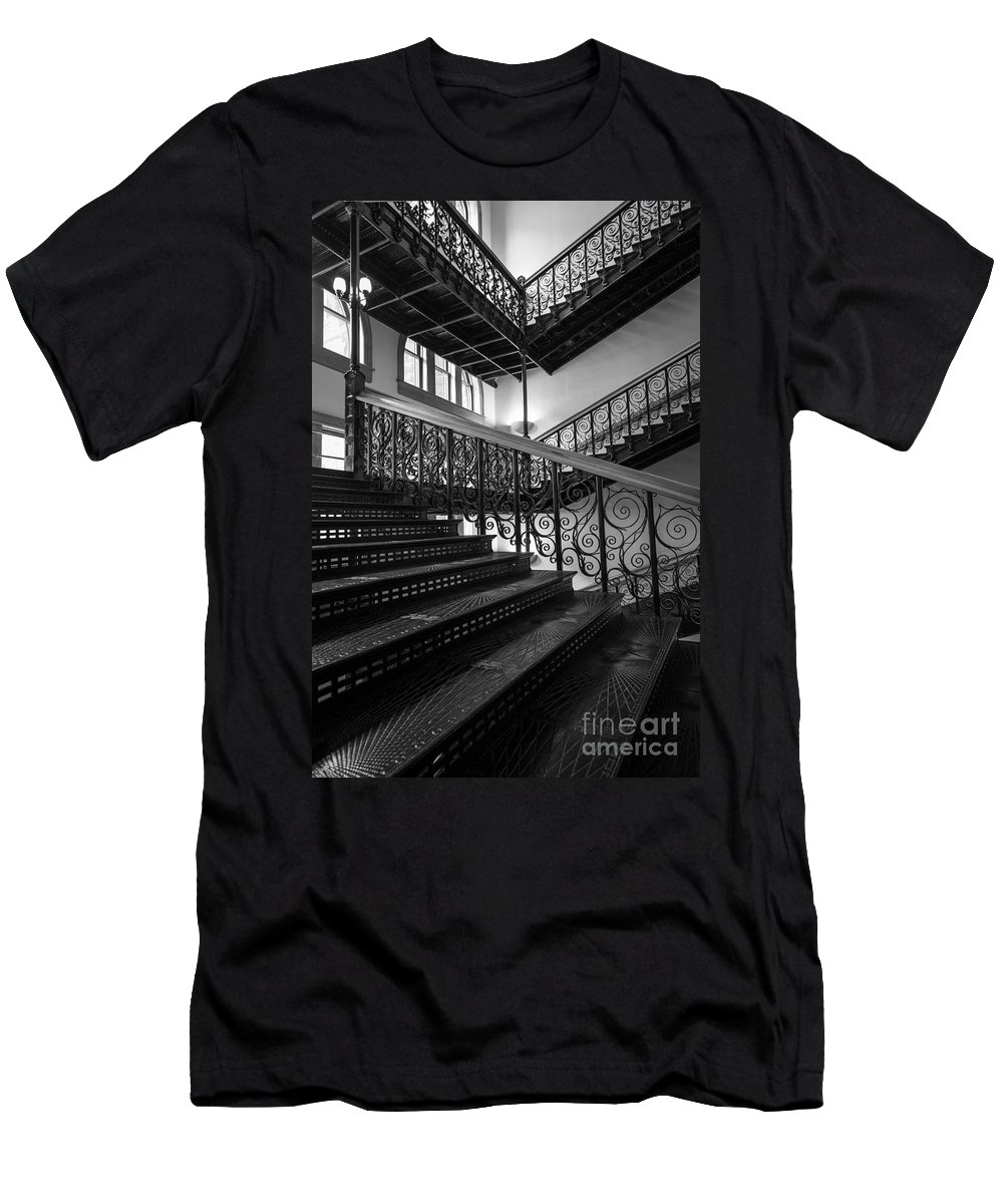 America Men's T-Shirt (Athletic Fit) featuring the photograph Iron Staircases by Inge Johnsson