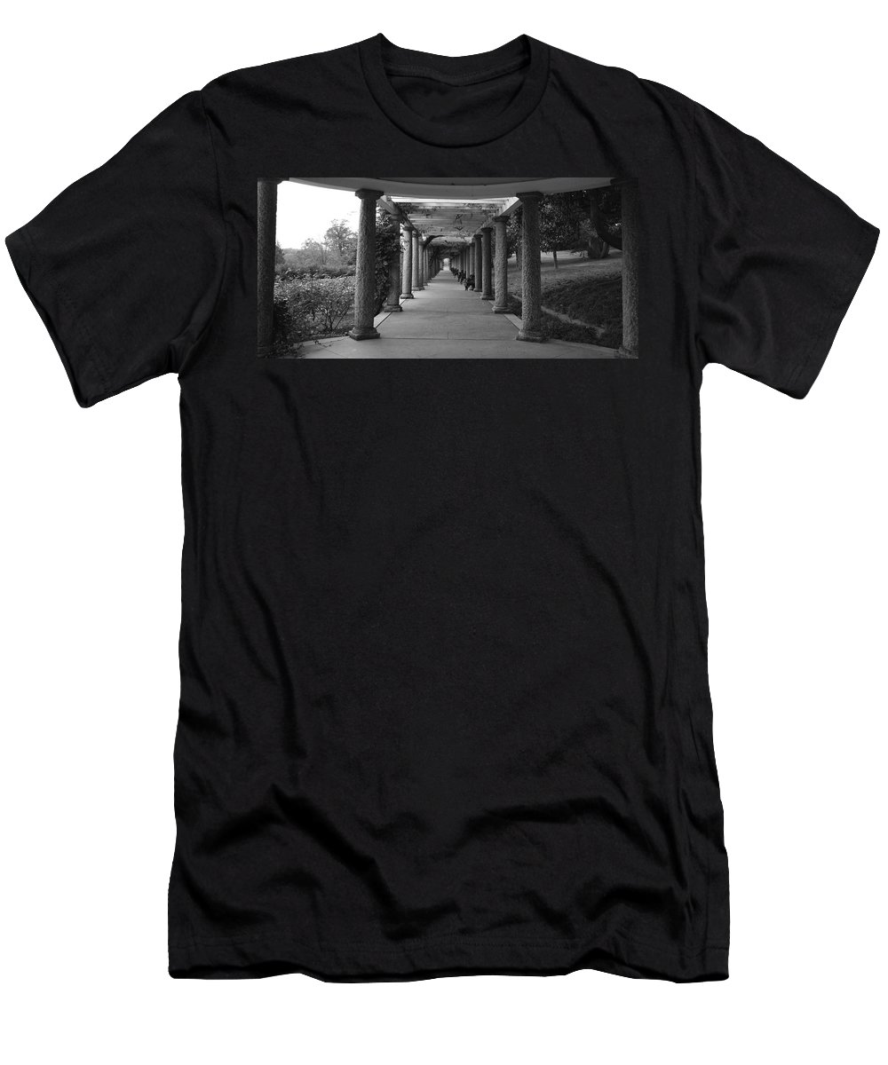 Maymont Men's T-Shirt (Athletic Fit) featuring the photograph Italian Garden by Tina Meador