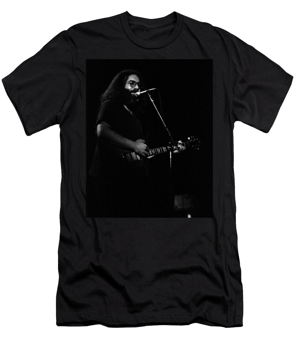 Jerry Garcia Men's T-Shirt (Athletic Fit) featuring the photograph J G B #16 by Ben Upham
