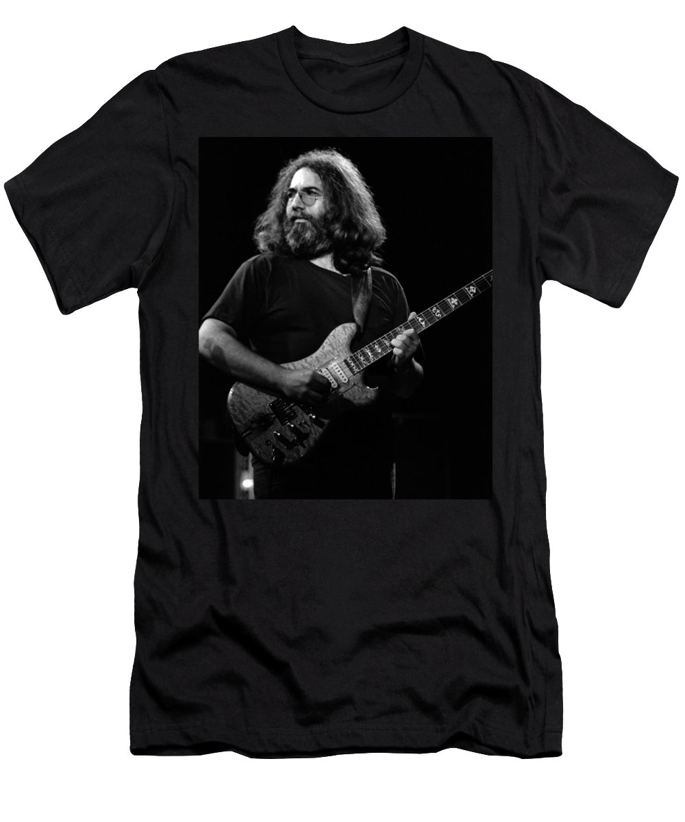 Jerry Garcia Men's T-Shirt (Athletic Fit) featuring the photograph J G B #35 by Ben Upham