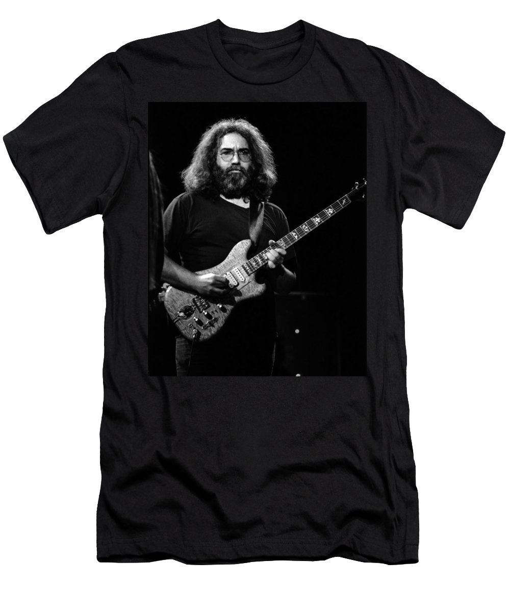 Jerry Garcia Men's T-Shirt (Athletic Fit) featuring the photograph J G B #43 by Ben Upham