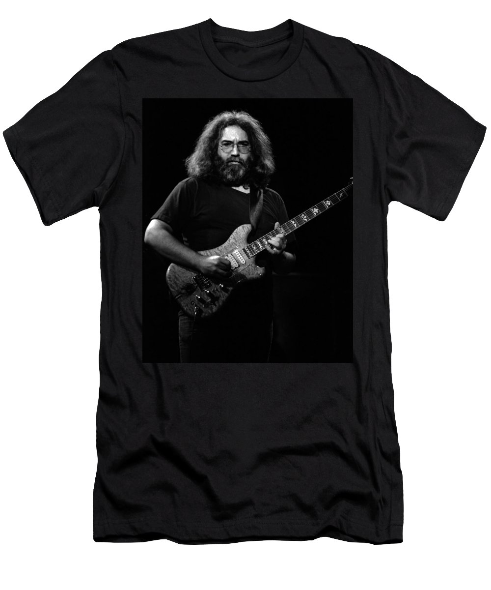 Jerry Garcia Men's T-Shirt (Athletic Fit) featuring the photograph J G B #45 by Ben Upham