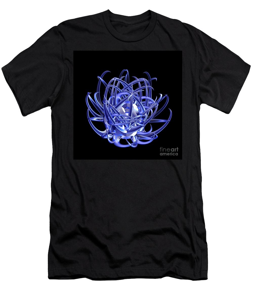First Star Art Men's T-Shirt (Athletic Fit) featuring the photograph Jammer Blue Star 001 by First Star Art