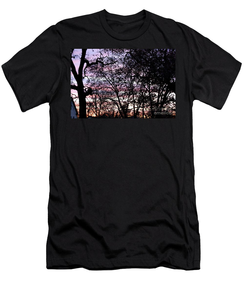 Trees Men's T-Shirt (Athletic Fit) featuring the photograph Jammer Cotton Candy Trees by First Star Art