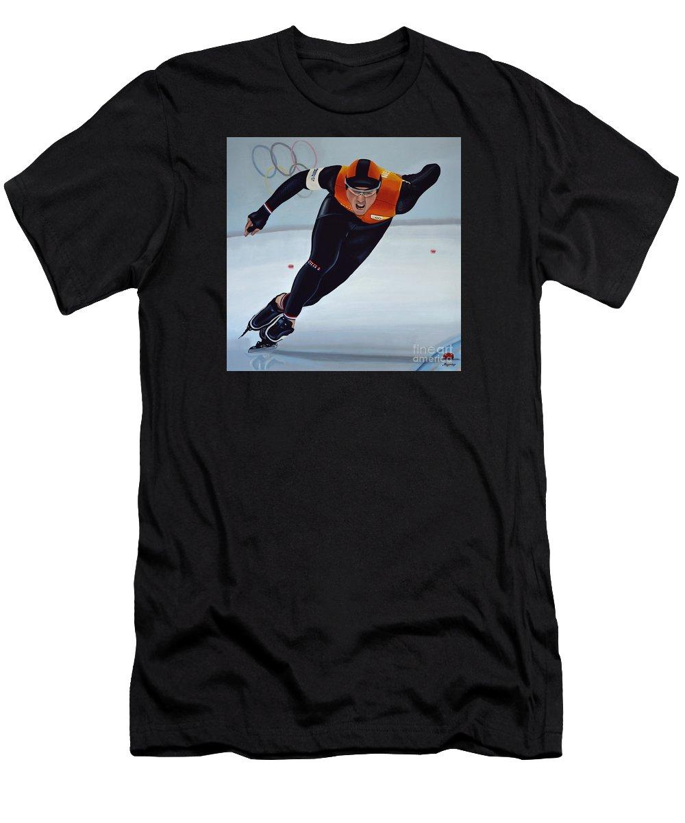 Jan Smeekens Men's T-Shirt (Athletic Fit) featuring the painting Jan Smeekens by Paul Meijering