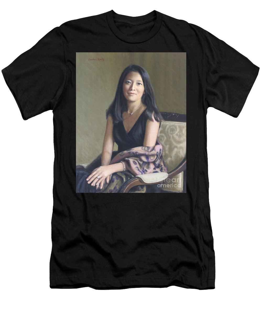 Portrait Men's T-Shirt (Athletic Fit) featuring the painting Jane by Candace Lovely
