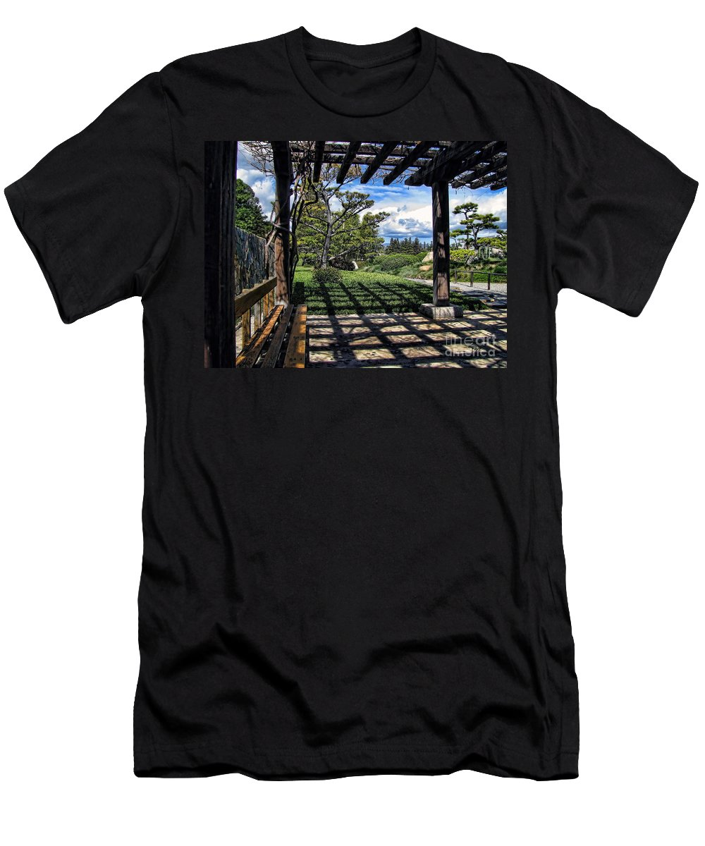 Photo Men's T-Shirt (Athletic Fit) featuring the photograph Japanese Garden Of Water And Fragrance 2 by Peter Awax