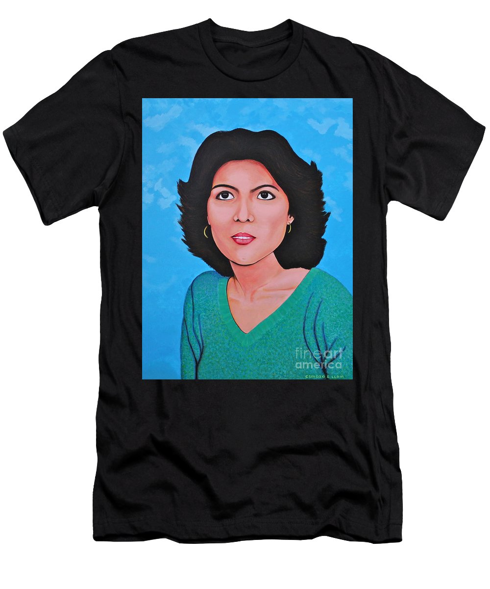 Jasmina Men's T-Shirt (Athletic Fit) featuring the painting Jasmina by Cyril Maza