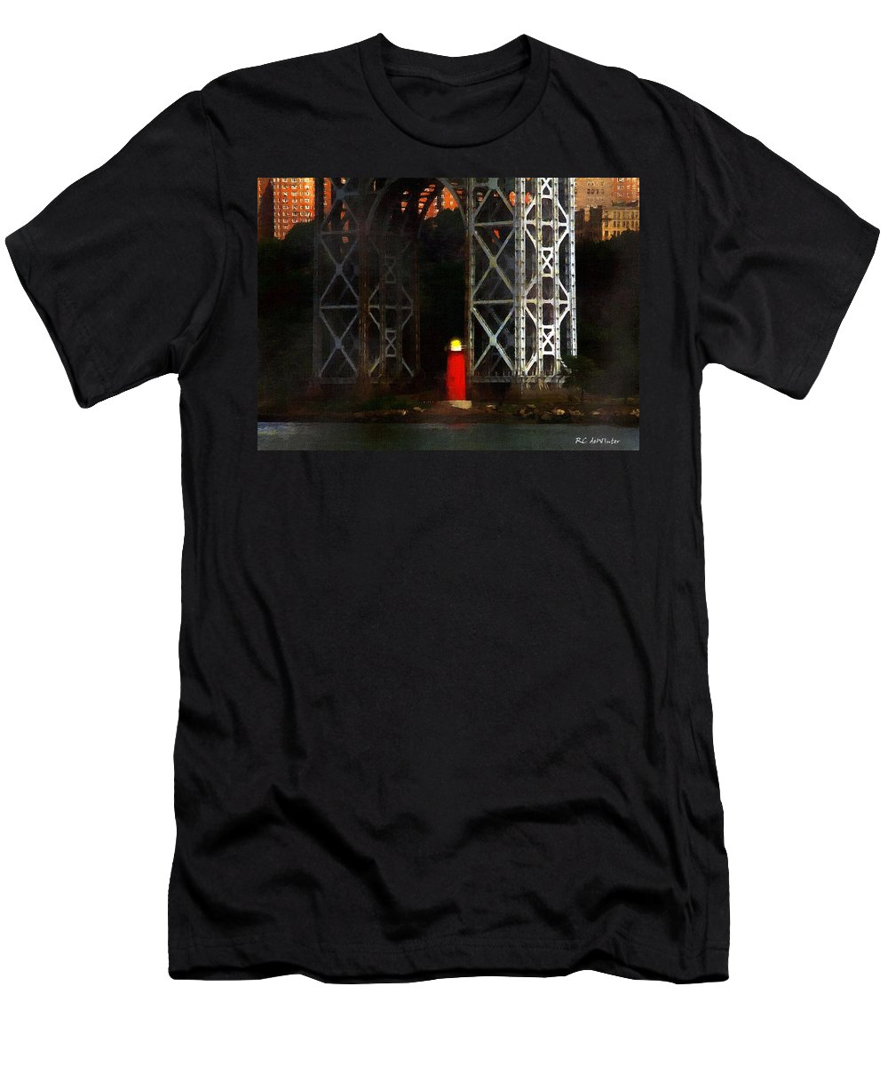 Landscape Men's T-Shirt (Athletic Fit) featuring the painting Jeff And George by RC DeWinter