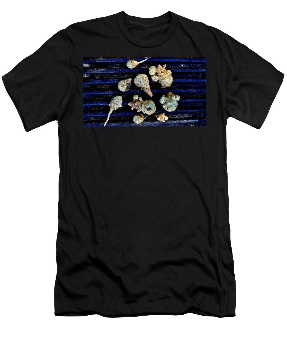 Still Life Men's T-Shirt (Athletic Fit) featuring the photograph Jerusalem Artichoke Tubers by Mark Victors