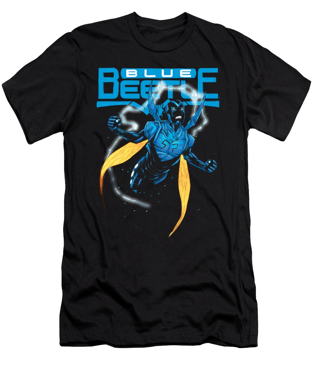 T-Shirt featuring the digital art Jla - Blue Beetle by Brand A