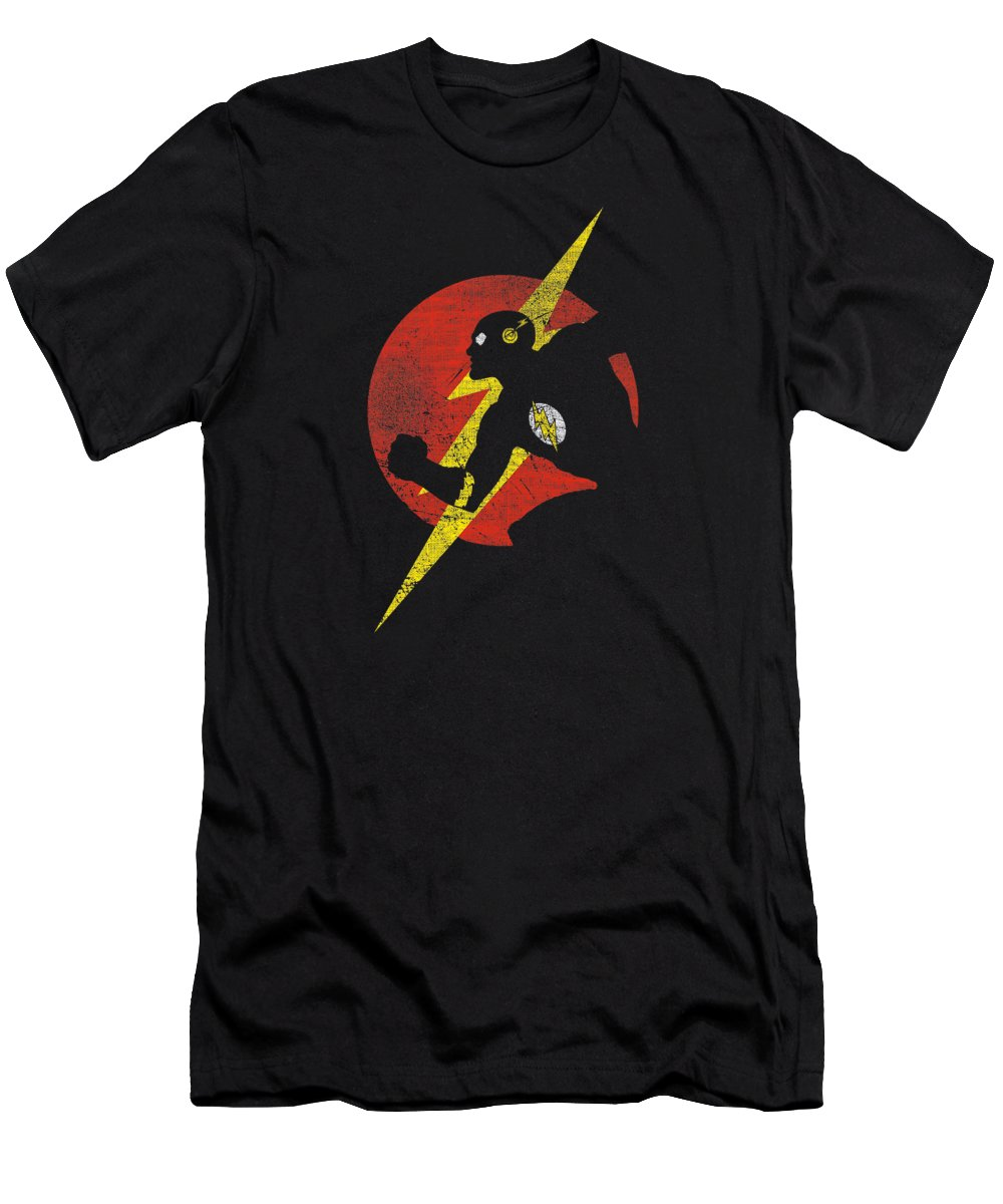T-Shirt featuring the digital art Jla - Flash Symbol Knockout by Brand A