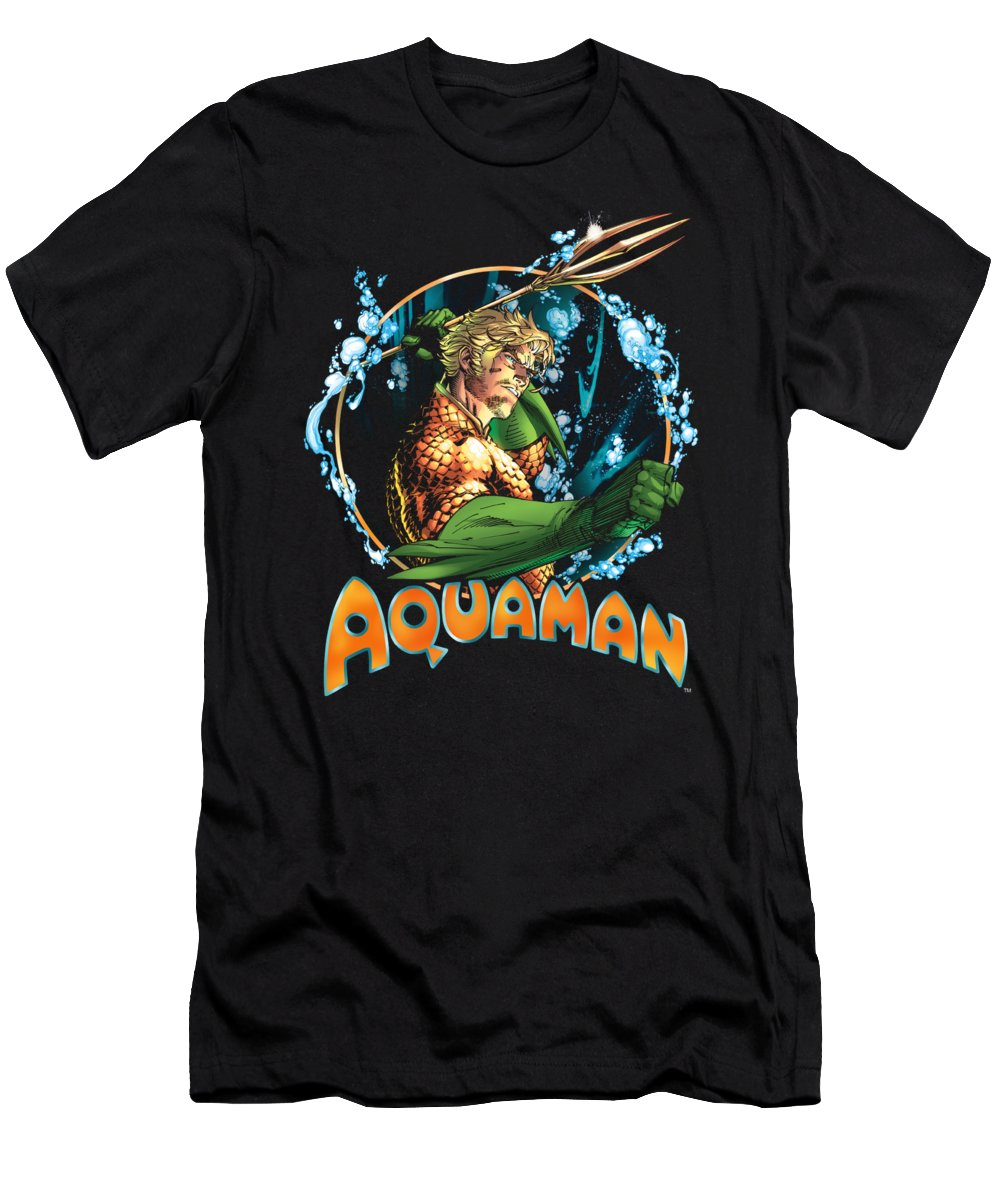T-Shirt featuring the digital art Jla - Ruler Of The Seas by Brand A