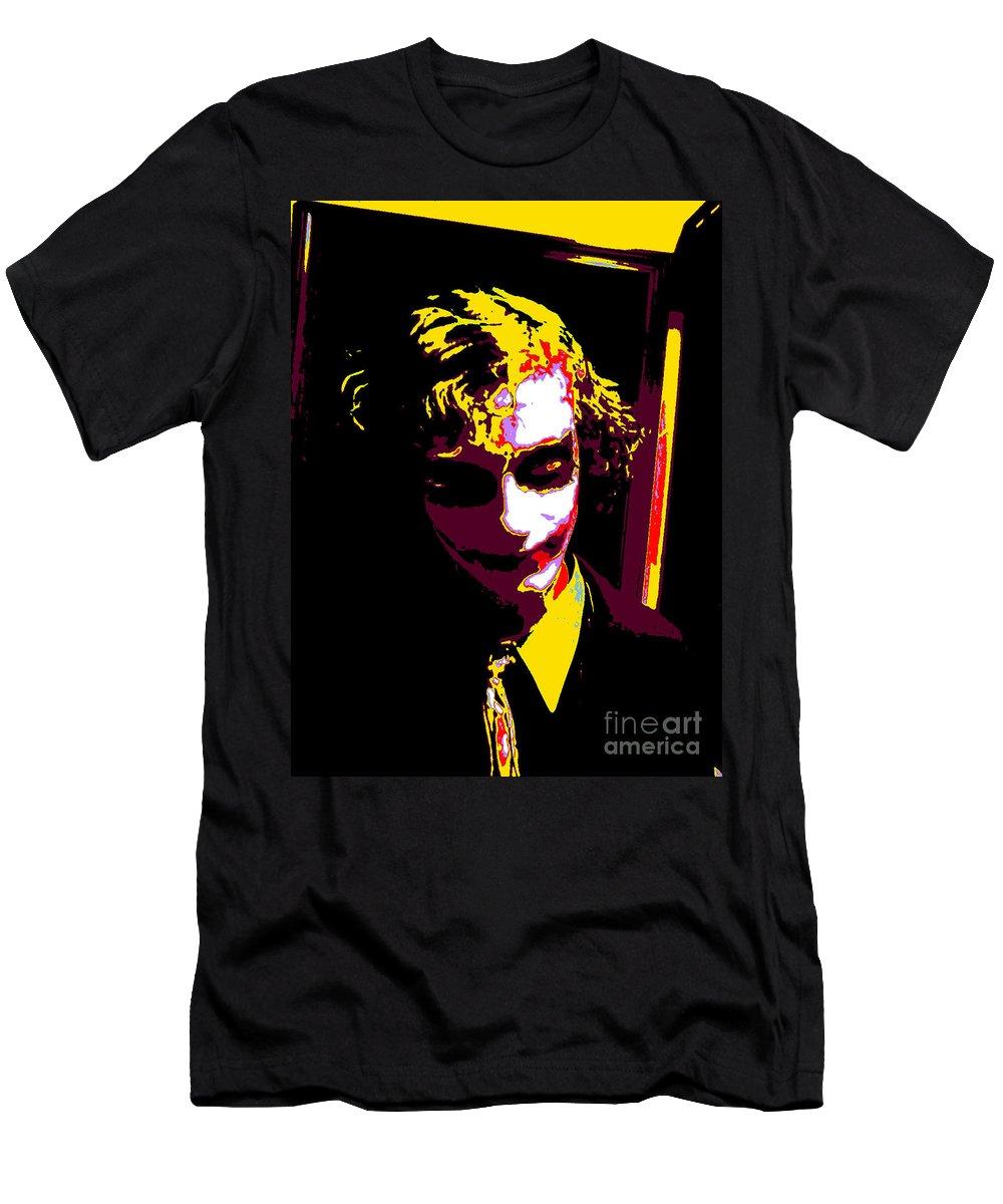 Joker Men's T-Shirt (Athletic Fit) featuring the digital art Joker 10 by Alys Caviness-Gober