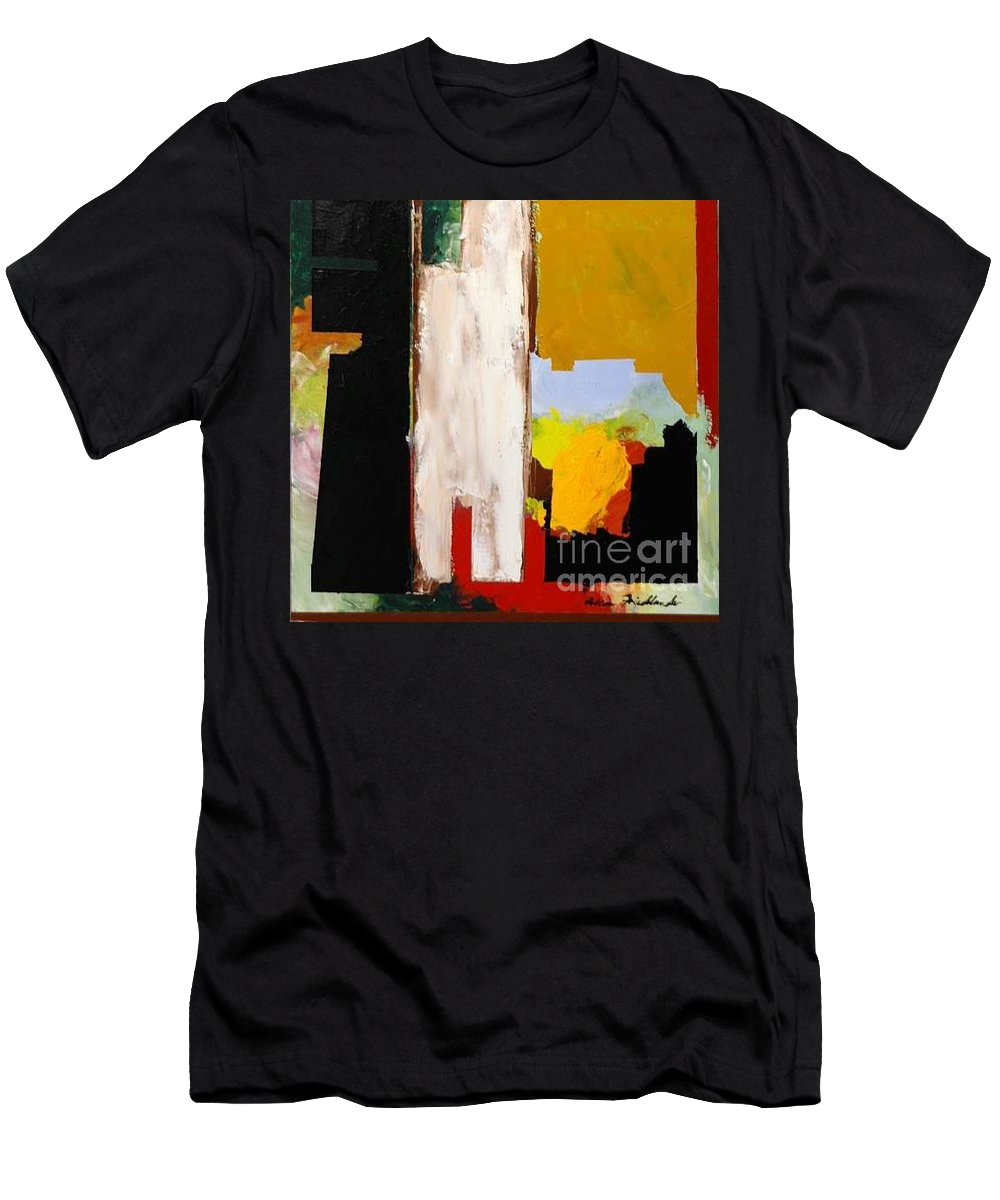 Landscape Men's T-Shirt (Athletic Fit) featuring the painting Jordan Park 511 by Allan P Friedlander