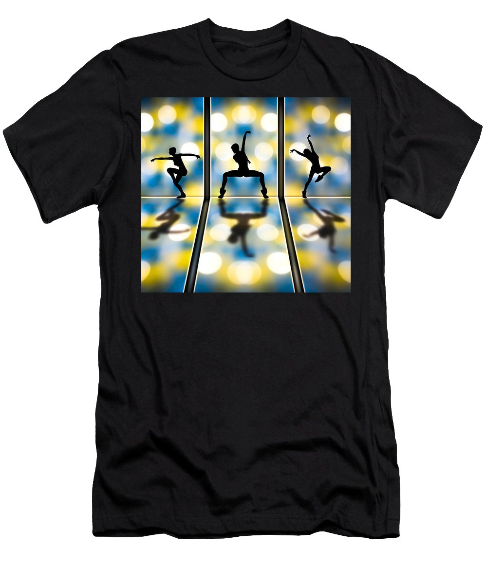 Dance Men's T-Shirt (Athletic Fit) featuring the digital art Joy Of Movement by Bob Orsillo