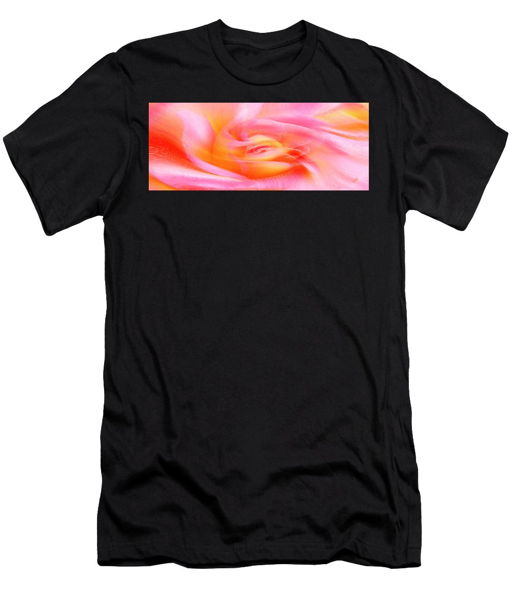 Rose Abstract Men's T-Shirt (Athletic Fit) featuring the photograph Joy - Rose by Ben and Raisa Gertsberg