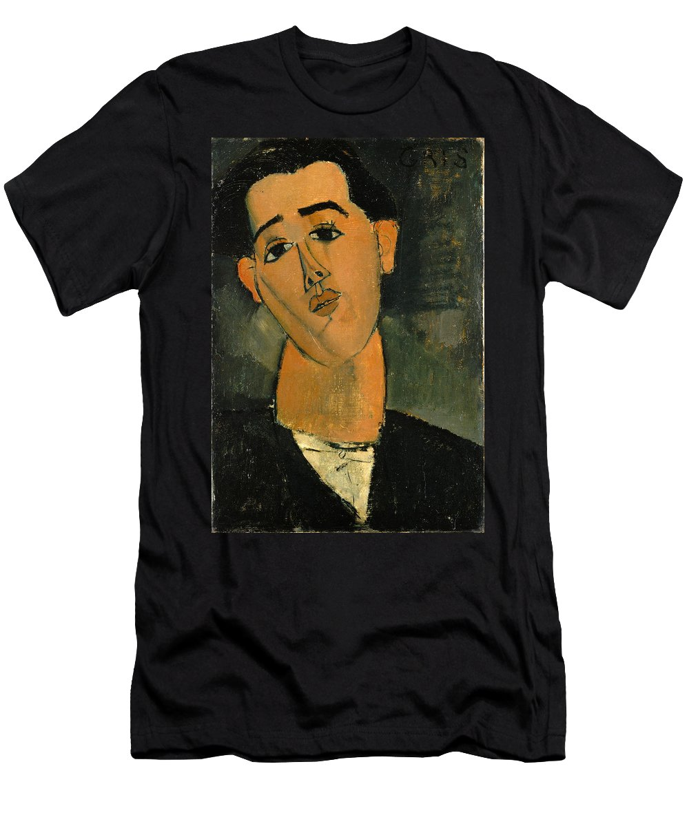 Amedeo Modigliani Men's T-Shirt (Athletic Fit) featuring the painting Juan Gris by Amedeo Modigliani