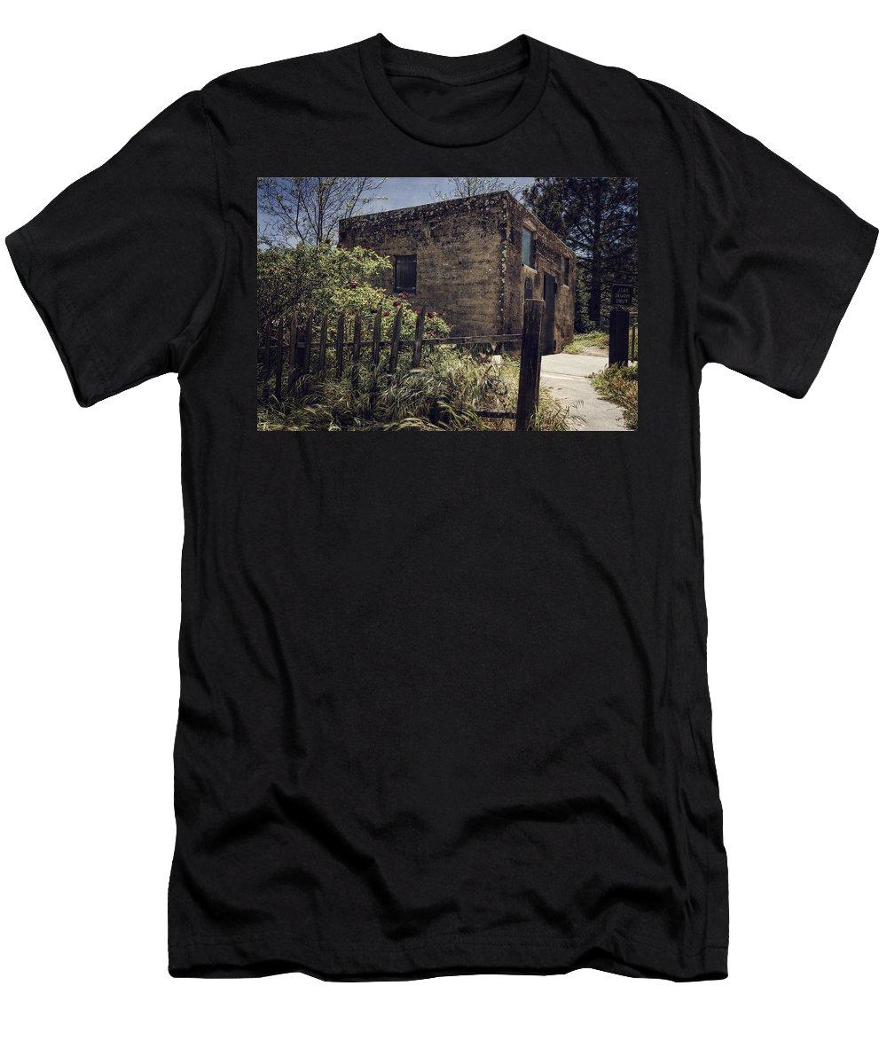 Joan Carroll Men's T-Shirt (Athletic Fit) featuring the photograph Julian Jail by Joan Carroll