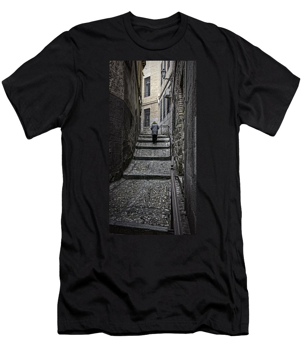 Toledo Men's T-Shirt (Athletic Fit) featuring the photograph Just Another Day by Joan Carroll