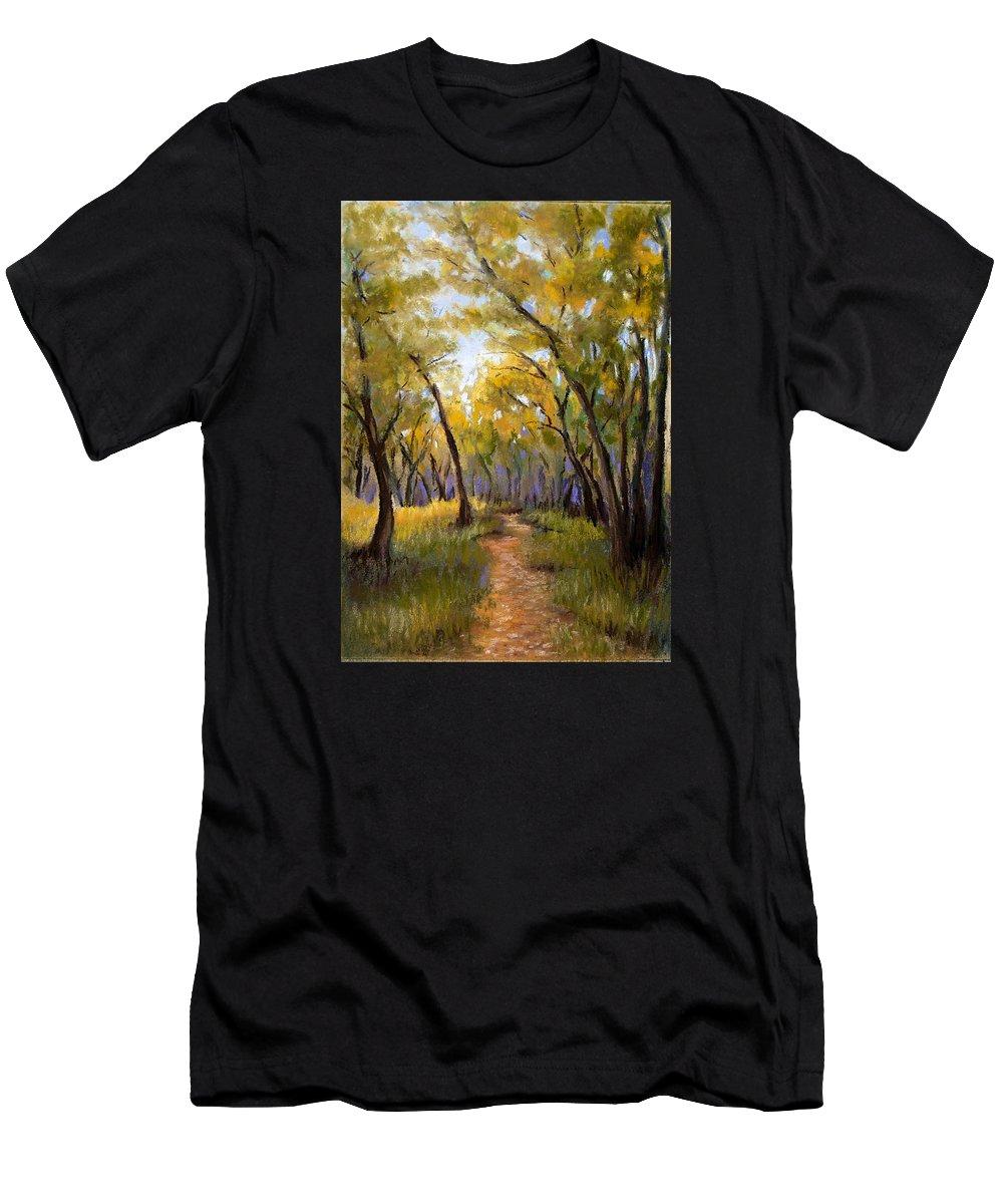 Landscape Men's T-Shirt (Athletic Fit) featuring the pastel Just Before Autumn by Susan Jenkins
