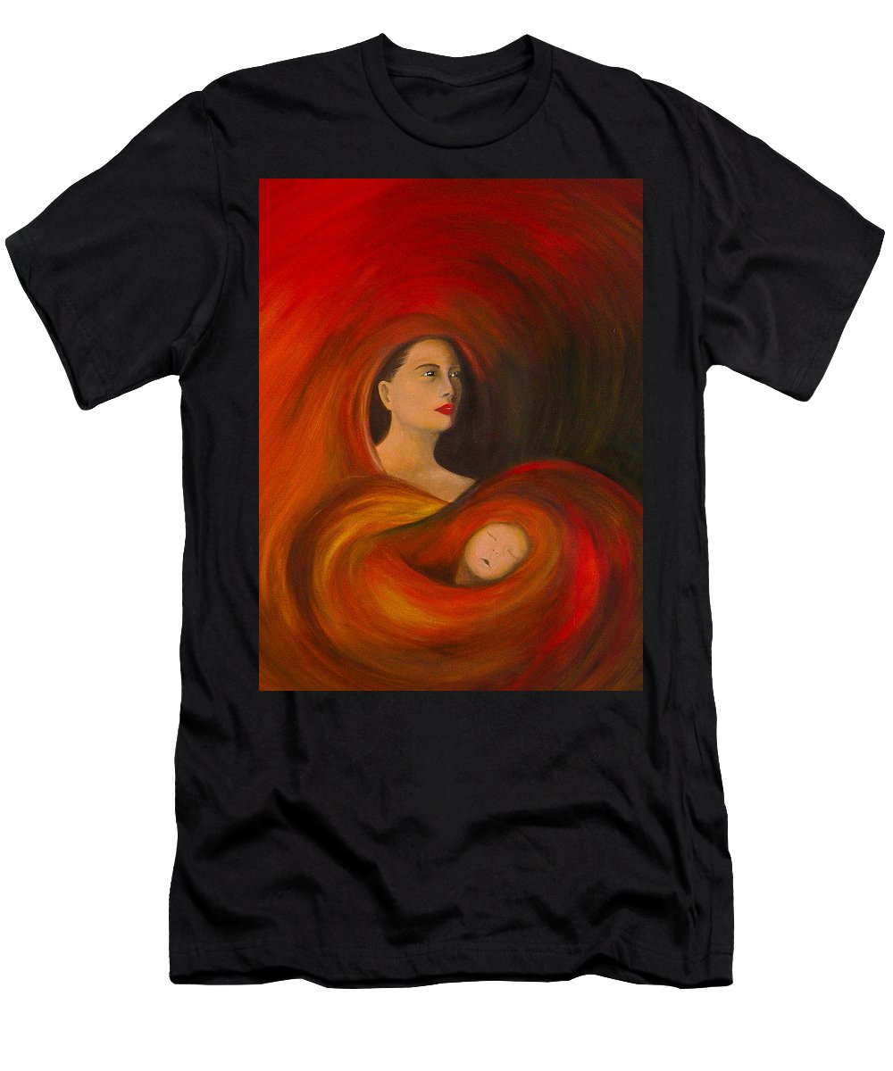 Verve Men's T-Shirt (Athletic Fit) featuring the painting ..just Love.. by Fanny Diaz