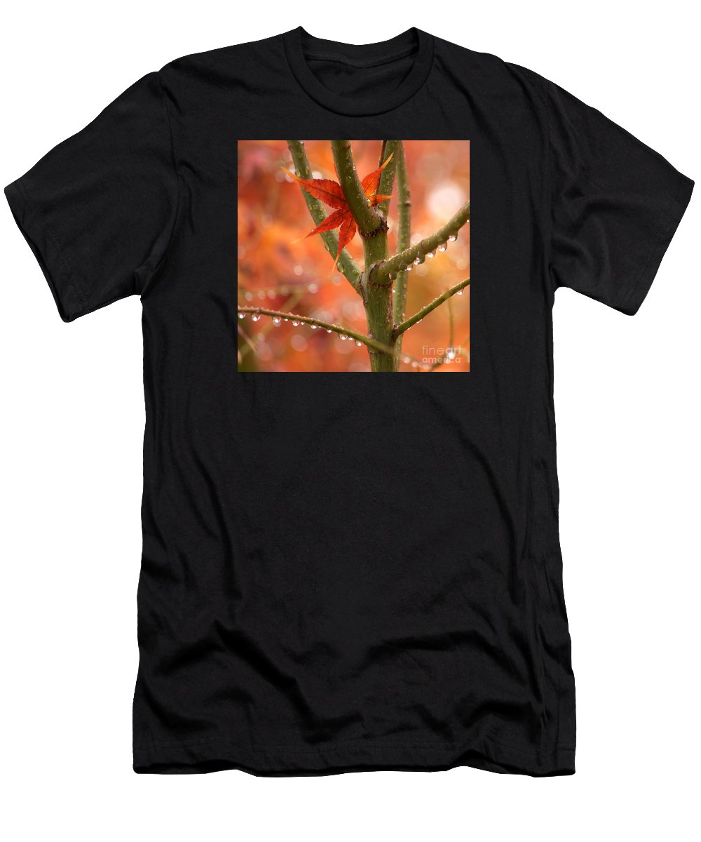 Diana Graves Photography Men's T-Shirt (Athletic Fit) featuring the photograph Just One Leaf by K D Graves