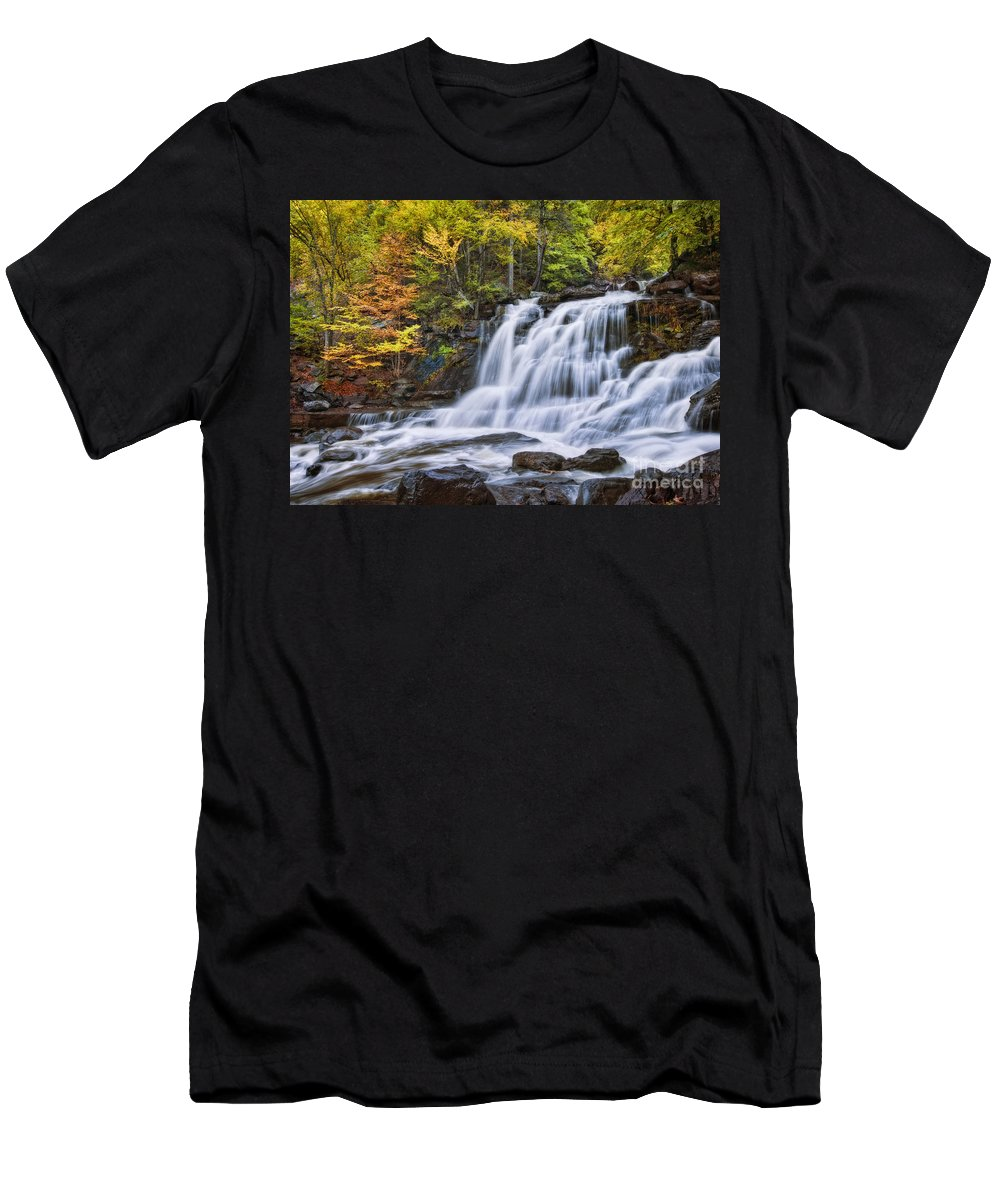 Falls Men's T-Shirt (Athletic Fit) featuring the photograph Kaaterskill Falls by Claudia Kuhn