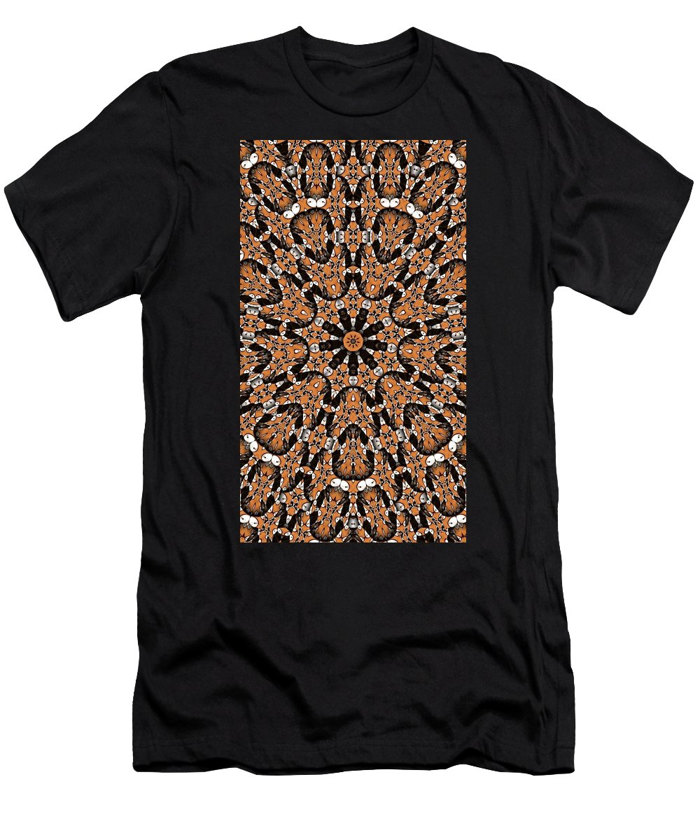 Kaleidoscope Men's T-Shirt (Athletic Fit) featuring the digital art Kaleidoscope 62 by Ron Bissett