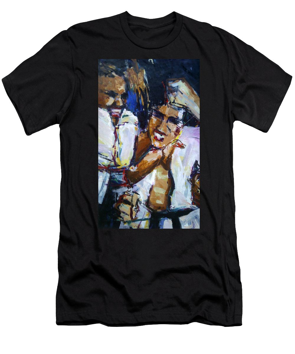 Karate Men's T-Shirt (Athletic Fit) featuring the painting Karate Kui Sun by Lucia Hoogervorst