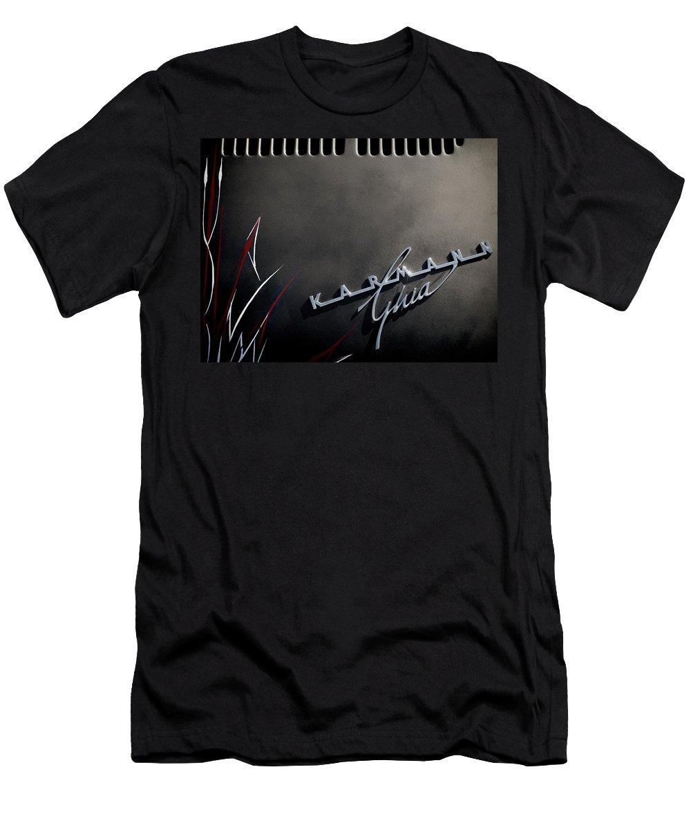 Automotive Men's T-Shirt (Athletic Fit) featuring the digital art Karmann Black by Douglas Pittman