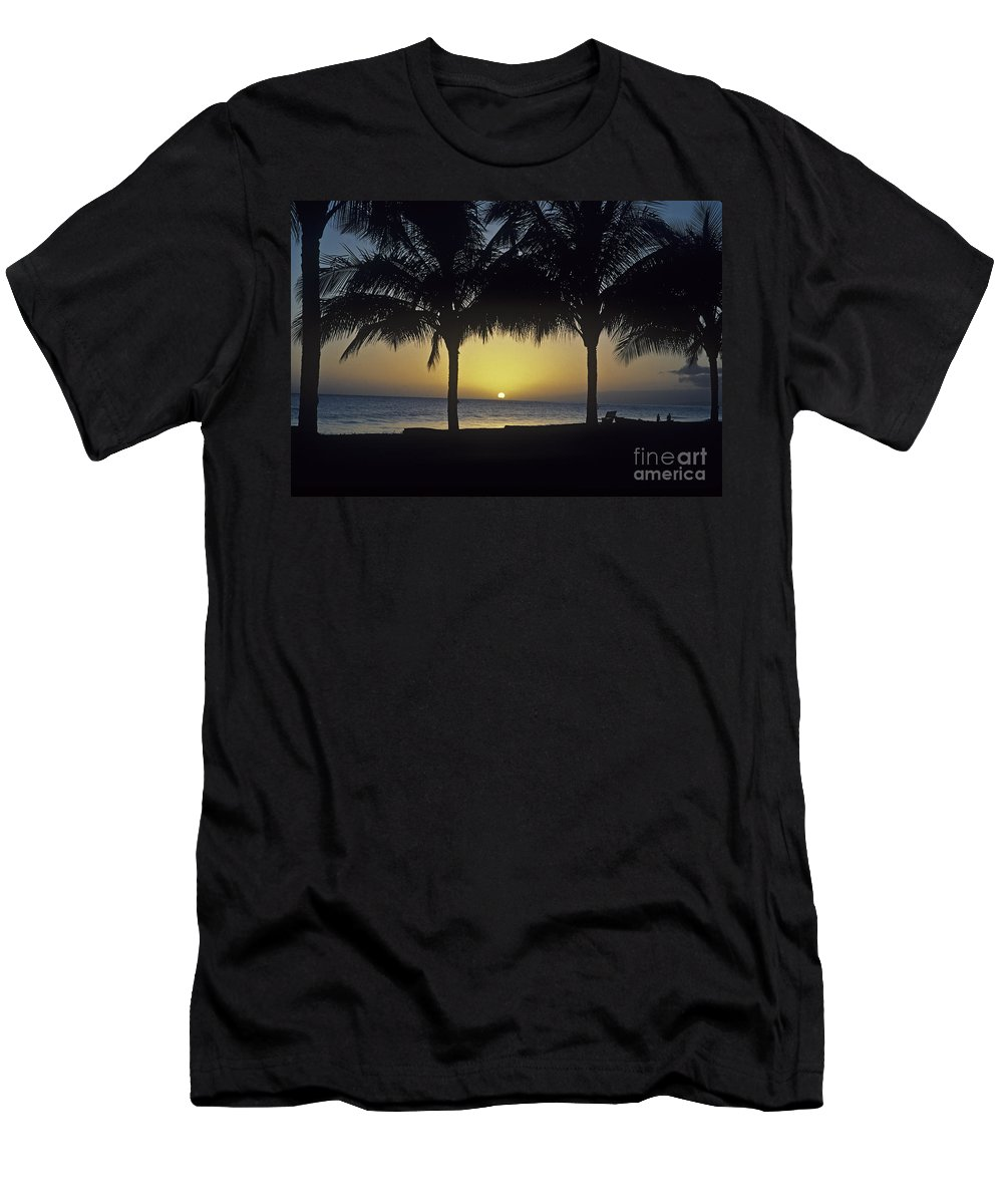 America Men's T-Shirt (Athletic Fit) featuring the photograph Kauai Sunset by Howard Stapleton