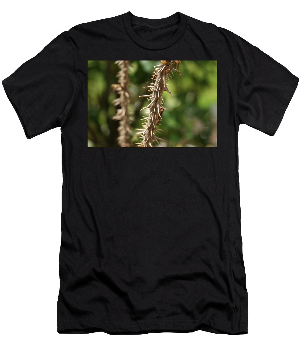 Thorns Men's T-Shirt (Athletic Fit) featuring the photograph Keep Back by Rob Luzier