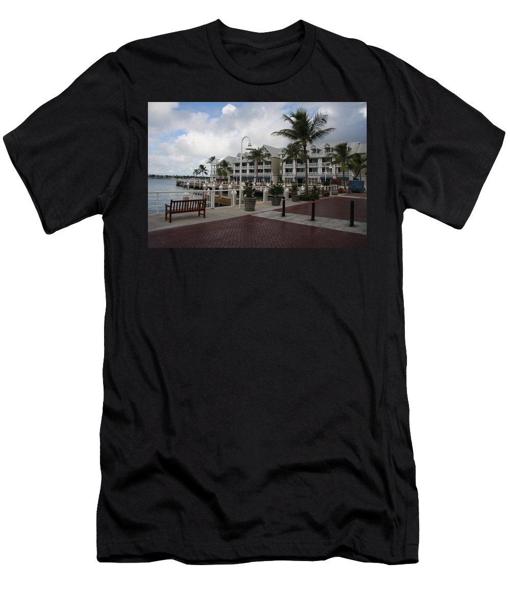 Key West Men's T-Shirt (Athletic Fit) featuring the photograph Key West Bayfront by Christiane Schulze Art And Photography