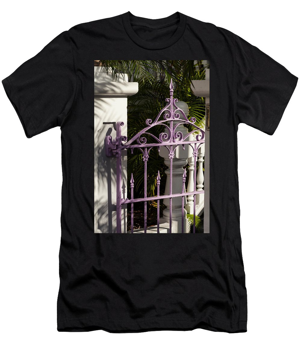 Colors Men's T-Shirt (Athletic Fit) featuring the photograph Key West Charm by Ed Gleichman