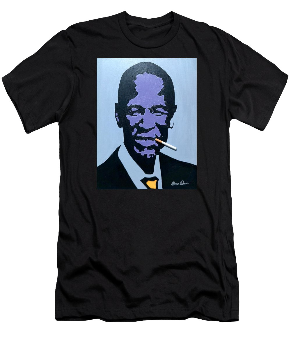 Art Men's T-Shirt (Athletic Fit) featuring the painting Khama by Bruce Davis
