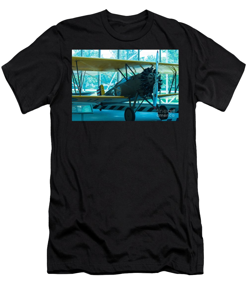 Aircraft Men's T-Shirt (Athletic Fit) featuring the photograph Kick In The Head by Rich Priest