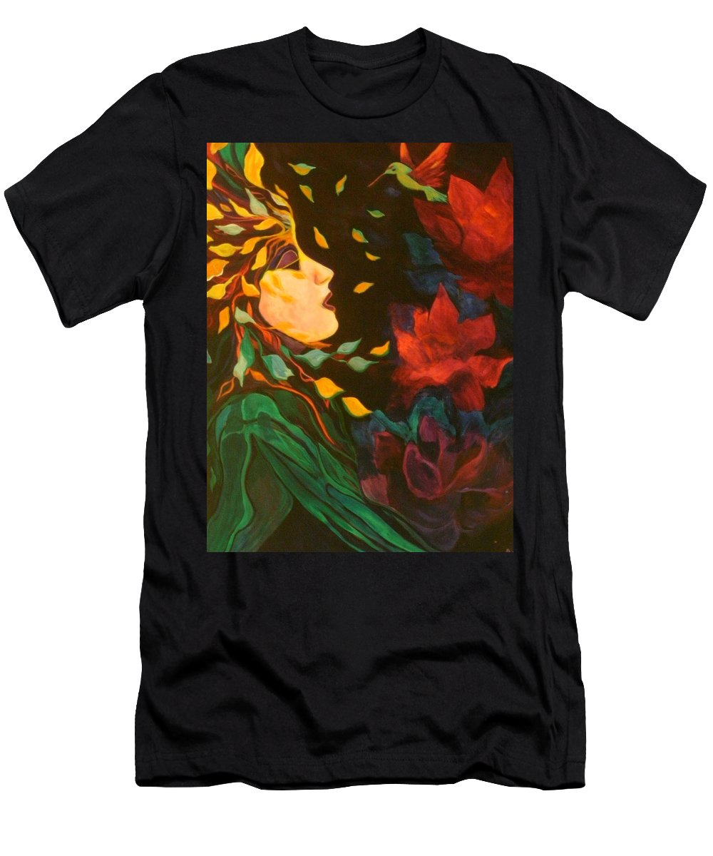 Spirits Men's T-Shirt (Athletic Fit) featuring the painting Kindred Spirits by Carolyn LeGrand