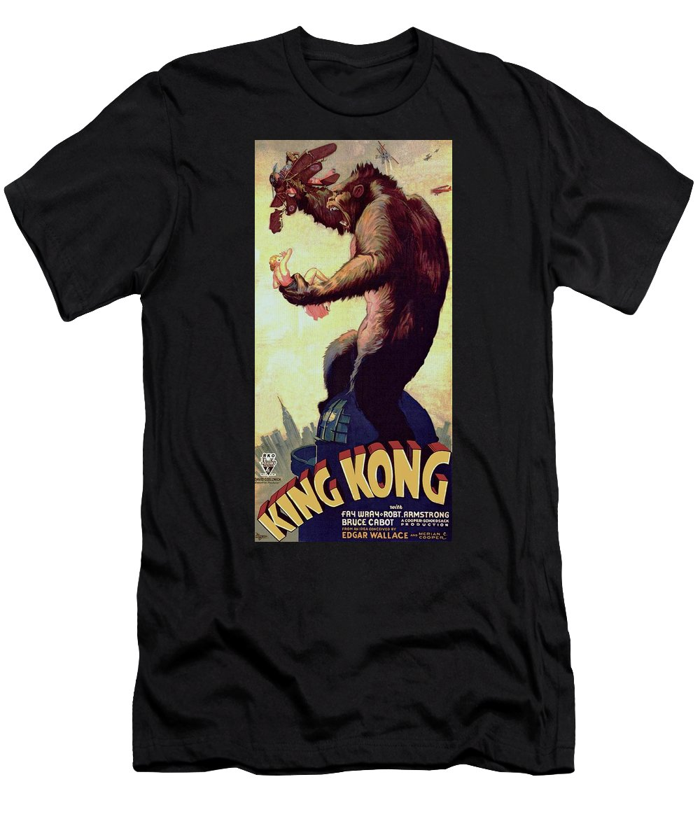 King Kong Men's T-Shirt (Athletic Fit) featuring the photograph King Kong by Movie Poster Prints