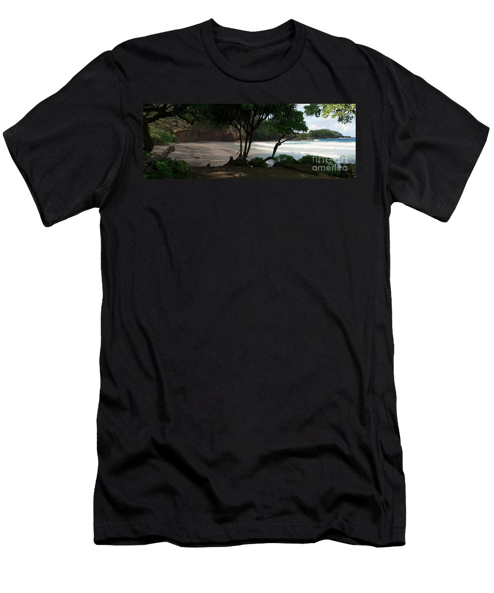 Aloha Men's T-Shirt (Athletic Fit) featuring the photograph Koki Beach Hana Maui Hawaii by Sharon Mau