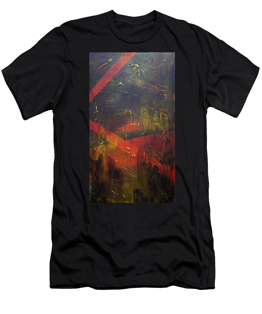 Abstract T-Shirt featuring the painting Komposition z by Sergey Bezhinets