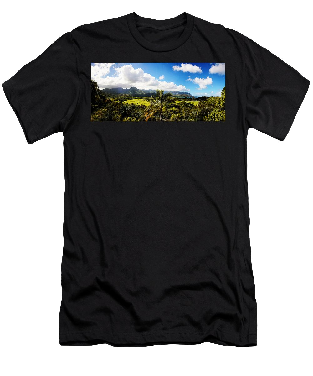 Kuhio Hwy Men's T-Shirt (Athletic Fit) featuring the photograph Kuhio Hwy Outlook by Douglas Barnard