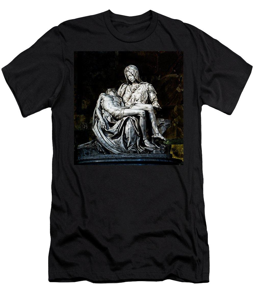 La Pieta Men's T-Shirt (Athletic Fit) featuring the photograph La Pieta by Weston Westmoreland