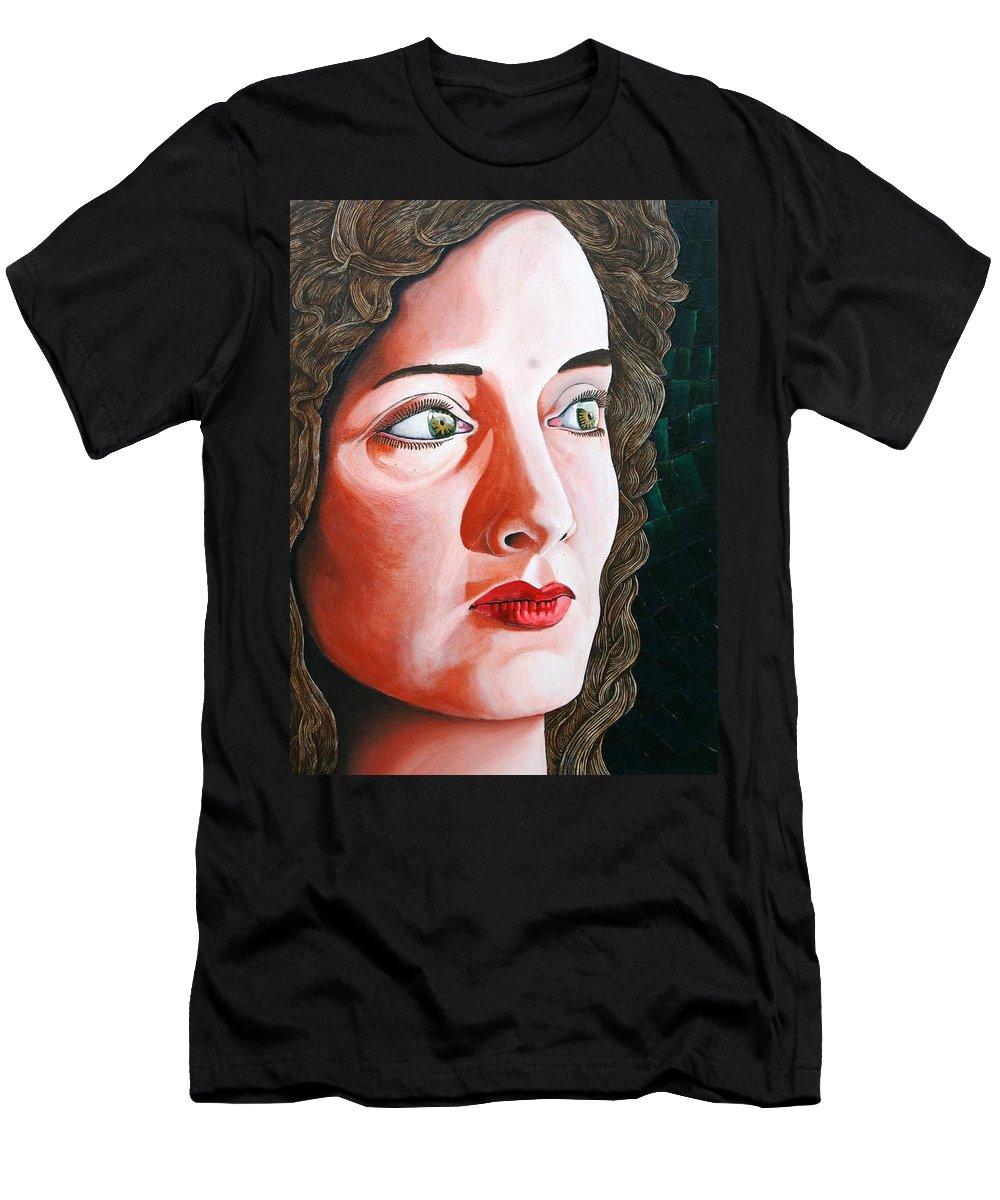 Portrait Men's T-Shirt (Athletic Fit) featuring the painting La Princessa Judea by Don Martinelli