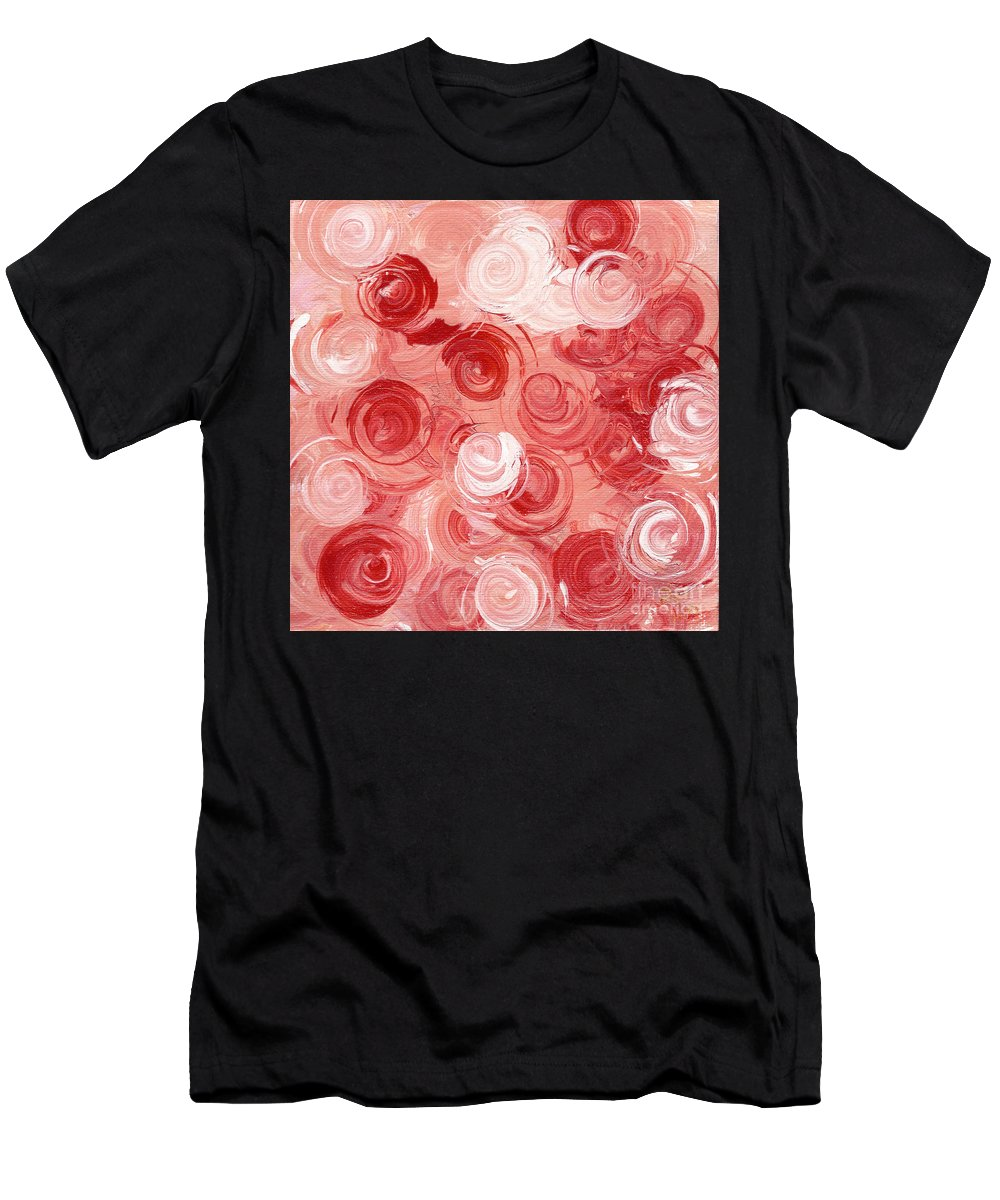 Edith Piaf Men's T-Shirt (Athletic Fit) featuring the painting La Vie En Rose by Alys Caviness-Gober
