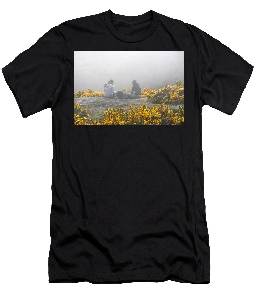 Ireland Men's T-Shirt (Athletic Fit) featuring the photograph Dublin In The Mist by Aidan Moran