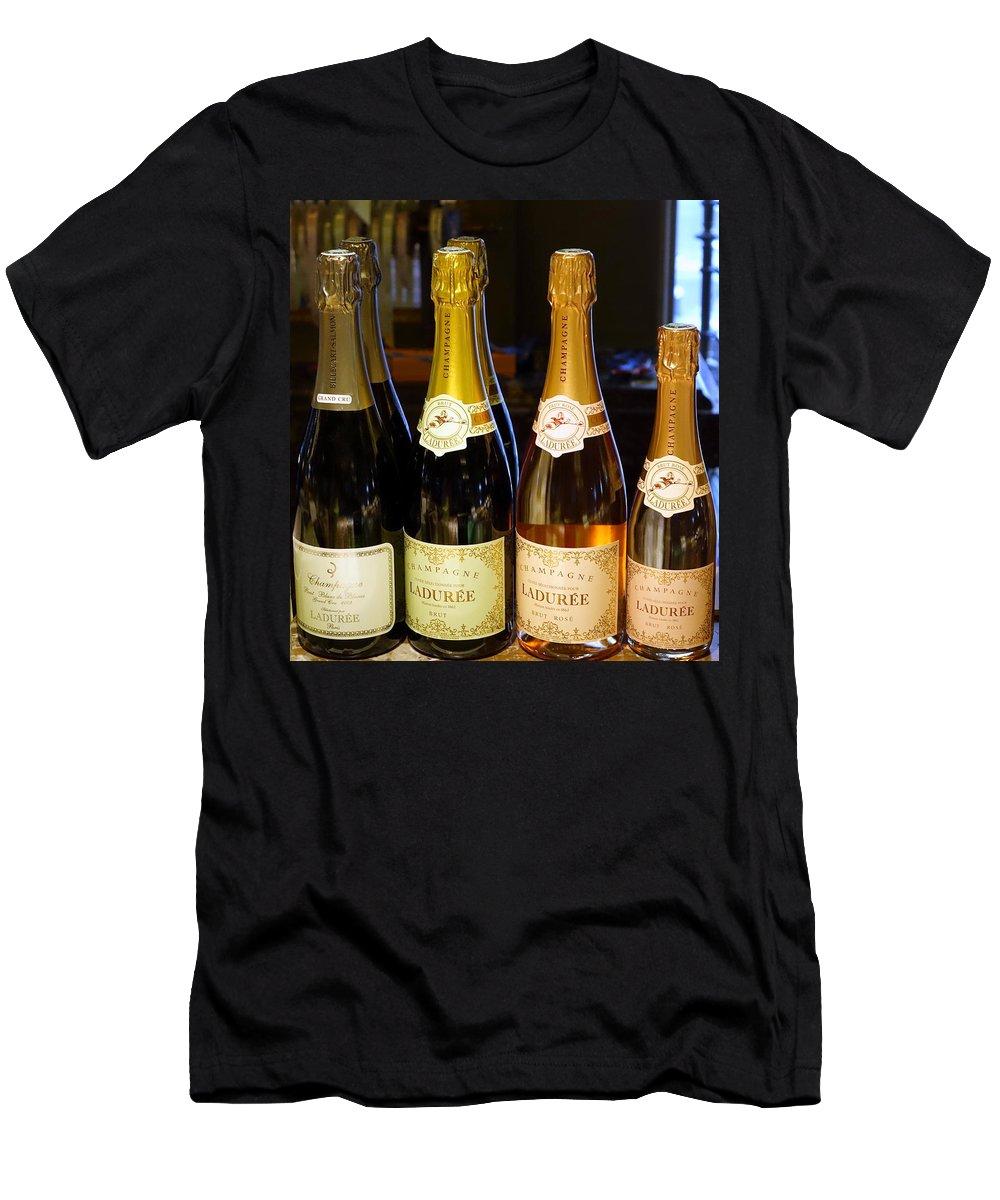 Paris Men's T-Shirt (Athletic Fit) featuring the photograph Laduree Champagne In Paris France by Richard Rosenshein